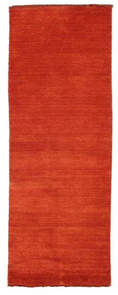Handloom Fringes - Rost/Röd Matta 80X200 Modern Hallmatta Roströd (Ull, Indien)