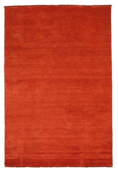 Handloom Fringes - Rost/Röd Matta 140X200 Modern Roströd (Ull, Indien)