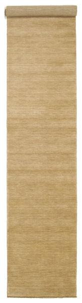Handloom Fringes - Beige Matta 80X400 Modern Hallmatta Mörkbeige/Ljusbrun (Ull, Indien)