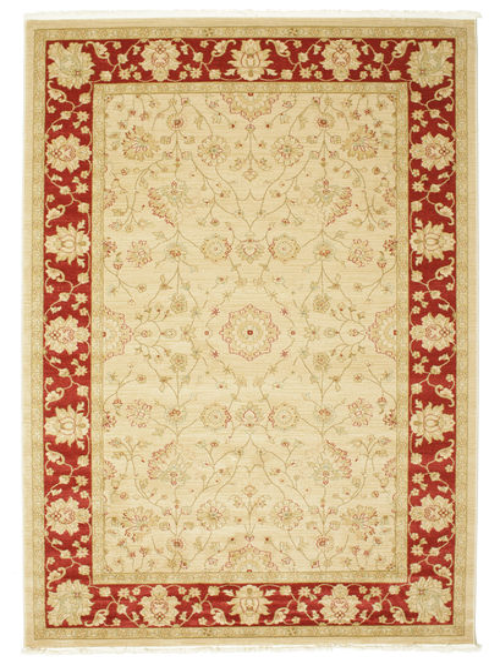 Farahan Ziegler - Beige/Röd Matta 200X300 Orientalisk Gul/Beige ( Turkiet)