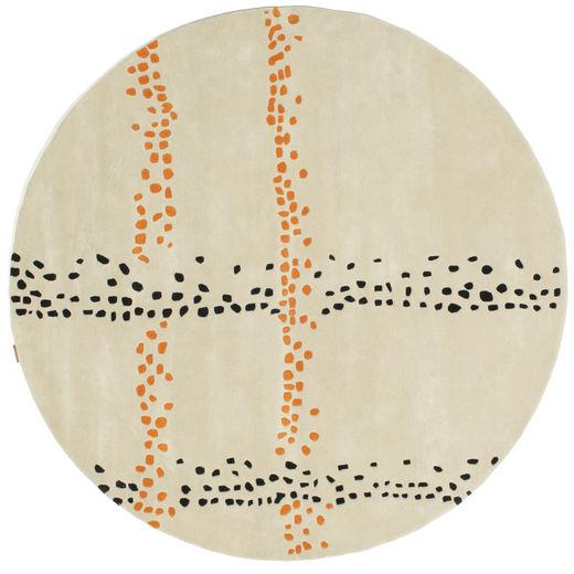 Delight Handtufted - Orange Matta Ø 200 Modern Rund Mörkbeige (Ull, Indien)