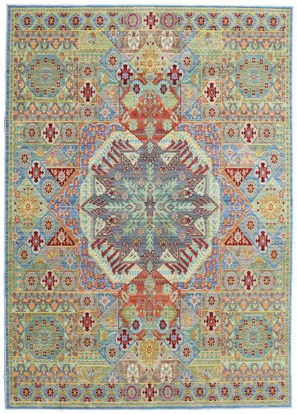 Simav Matta 160X230 Modern Ljusgrå/Ljusgrön ( Turkiet)