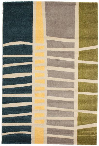 Abstract Bambu Matta 160X230 Modern Mörkblå/Beige ( Turkiet)