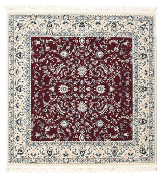 Nain Florentine - Mörk Röd Matta 150X150 Orientalisk Kvadratisk Beige/Ljusgrå ( Turkiet)