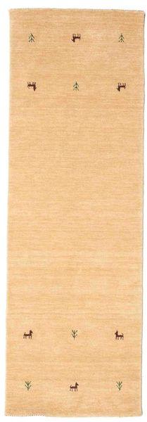 Gabbeh Loom Two Lines - Beige Matta 80X250 Modern Hallmatta Mörkbeige/Ljusbrun (Ull, Indien)