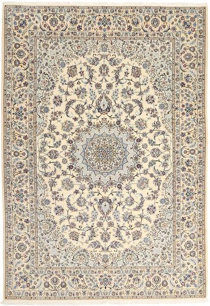 Nain 6La Matta 167X242 Äkta Orientalisk Handknuten Ljusgrå/Beige (Ull/Silke, Persien/Iran)