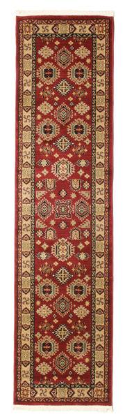 Shirvan Kazak Matta 80X300 Orientalisk Hallmatta Mörkröd/Ljusbrun ( Turkiet)