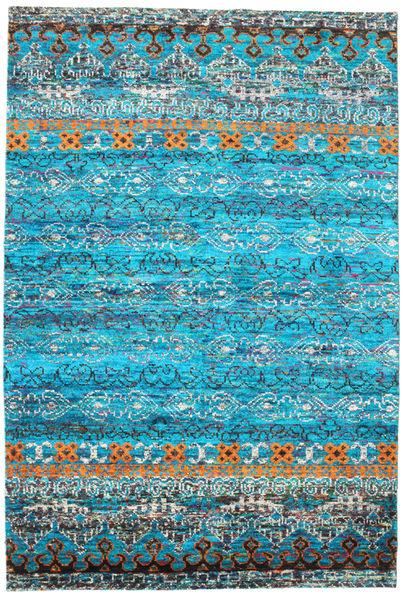 Quito - Turkos Matta 190X290 Äkta Modern Handknuten Turkosblå/Blå (Silke, Indien)