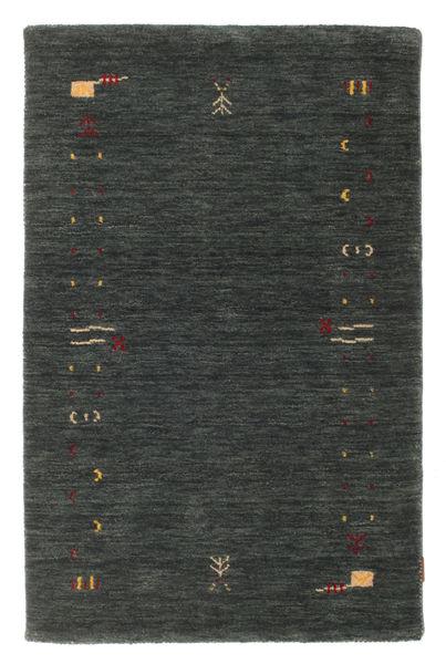 Gabbeh Loom Frame - Mörkgrå/Grön Matta 100X160 Modern Mörkgrön (Ull, Indien)