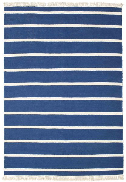 Dorri Stripe - Mörkblå Matta 160X230 Äkta Modern Handvävd Mörkblå/Blå (Ull, Indien)