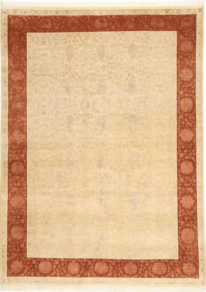 Tabriz Royal Magic Matta 170X244 Äkta Orientalisk Handknuten Mörkbeige/Beige ( Indien)