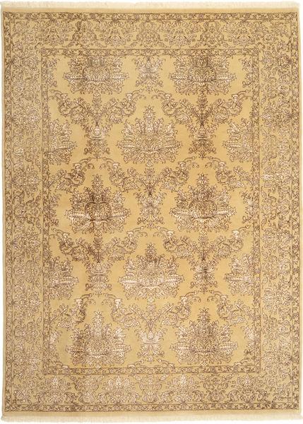 Tabriz Royal Magic Matta 171X236 Äkta Orientalisk Handknuten Mörkbeige/Ljusbrun ( Indien)