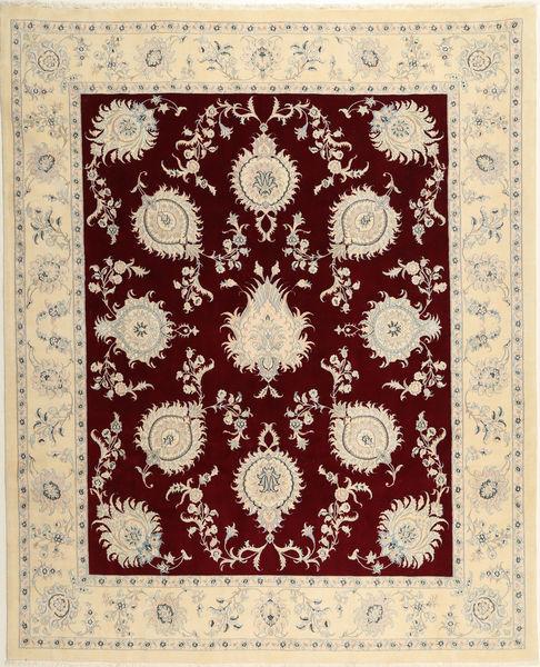 Nain 9La Sherkat Farsh Matta 248X305 Äkta Orientalisk Handknuten Beige/Ljusgrå (Ull, Persien/Iran)