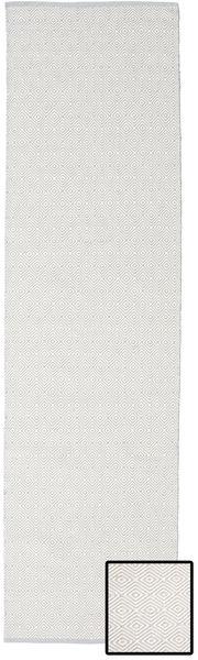 Diamond - Light_Gray Matta 80X250 Äkta Modern Handvävd Hallmatta Ljusgrå (Bomull, Indien)