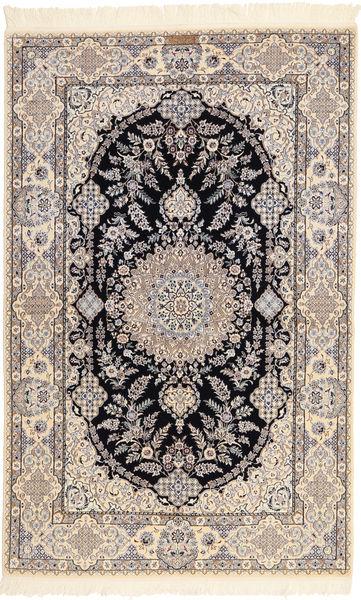 Nain 6La Habibian Matta 131X204 Äkta Orientalisk Handknuten Ljusgrå/Beige (Ull/Silke, Persien/Iran)