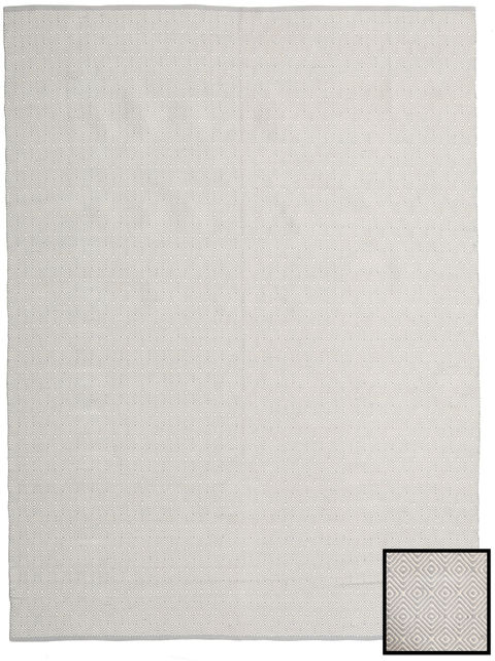 Diamond - Light_Gray Matta 250X300 Äkta Modern Handvävd Mörkbeige/Ljusgrå Stor (Bomull, Indien)