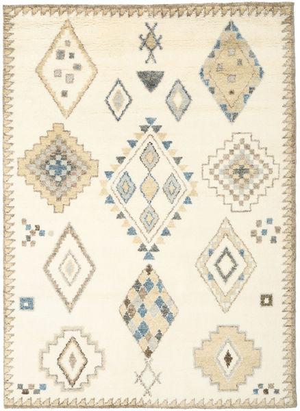 Berber Indisk - Naturvit/Beige Matta 210X290 Äkta Modern Handknuten Vit/Cremefärgad/Beige (Ull, Indien)