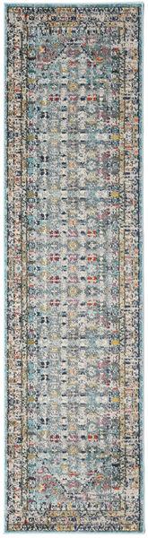 Chillon - Ljus Blå/Multi Matta 80X300 Modern Hallmatta Mörkgrå/Ljusgrå ( Turkiet)