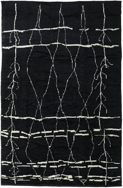 Handknotted Berber Shaggy Matta 271X416 Äkta Modern Handknuten Mörkgrå Stor (Ull, Turkiet)