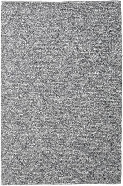 Rut - Mörkgrå Melerad Matta 200X300 Äkta Modern Handvävd Ljusgrå/Mörkgrå (Ull, Indien)
