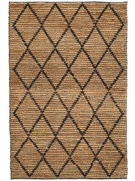 Utomhusmatta Serena Jute - Natural/Svart Matta 120X180 Äkta Modern Handvävd Ljusgrå/Beige (Jutematta Indien)