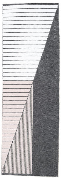 Utomhusmatta Diagonal - Svart/Rosa Matta 70X210 Modern Hallmatta Beige/Mörkgrå ( Sverige)