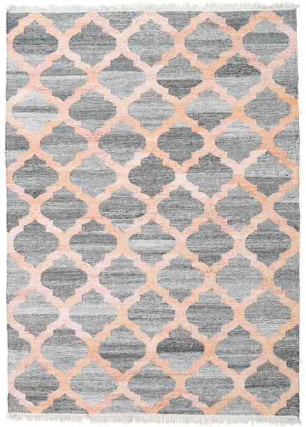 Utomhusmatta Kathi - Grå/Coral Matta 170X240 Äkta Modern Handvävd Ljusgrå/Ljusrosa ( Indien)