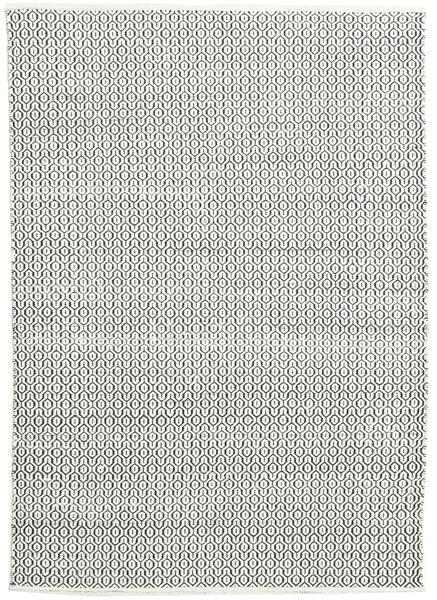 Alva - Vit/Svart Matta 160X230 Äkta Modern Handvävd Ljusgrå/Mörkgrå (Ull, Indien)