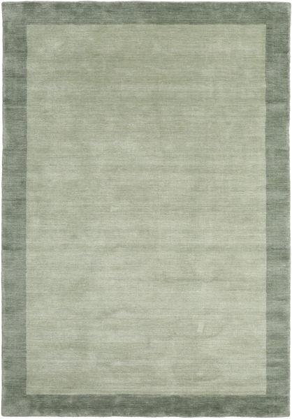 Handloom Frame - Grå/Grön Matta 160X230 Modern Ljusgrön/Pastellgrön (Ull, Indien)