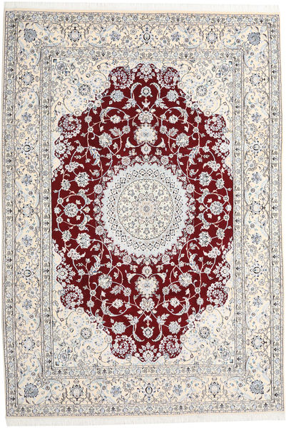 Nain 9La Matta 247X368 Äkta Orientalisk Handknuten Ljusgrå/Beige (Ull/Silke, Persien/Iran)