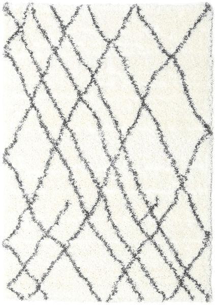 Shaggy Tangier - Vit/Mörkgrå Matta 160X230 Modern Beige/Ljusgrå ( Turkiet)