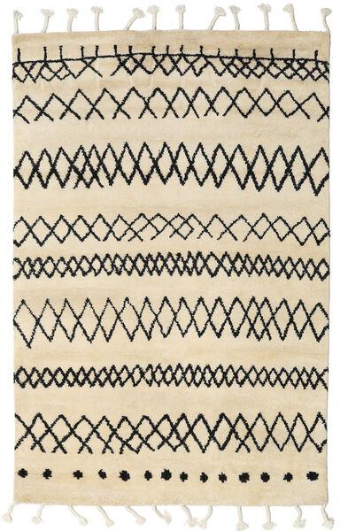 Beni Berber Matta 180X275 Äkta Modern Handknuten Beige/Mörkgrå (Ull, Indien)