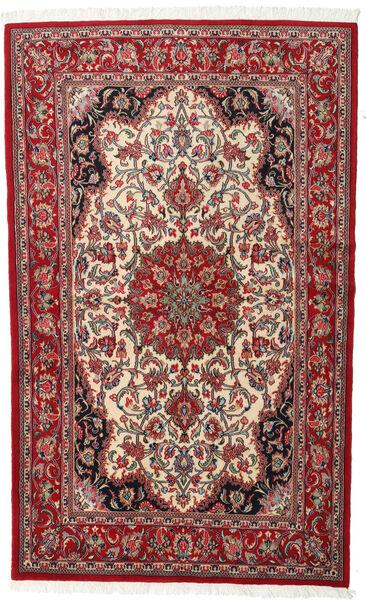 Ghom Kork/Silke Matta 127X205 Äkta Orientalisk Handknuten Mörkbrun/Beige (Ull/Silke, Persien/Iran)