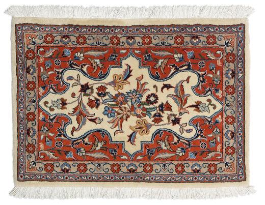 Mashad Matta 64X90 Äkta Orientalisk Handknuten Mörkbrun/Mörkbeige (Ull, Persien/Iran)