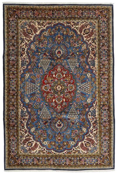 Ghom Kork/Silke Matta 215X322 Äkta Orientalisk Handknuten Brun/Mörkgrå (Ull/Silke, Persien/Iran)