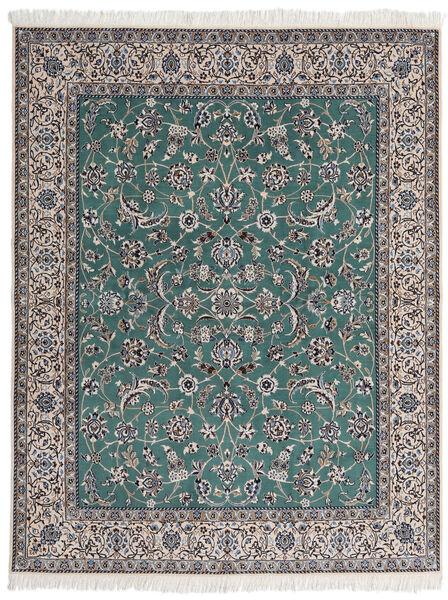 Nain 9La Matta 193X245 Äkta Orientalisk Handknuten Mörkgrå/Ljusgrå (Ull/Silke, Persien/Iran)