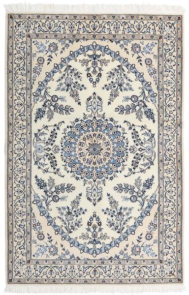 Nain 9La Matta 128X196 Äkta Orientalisk Handknuten Beige/Ljusgrå (Ull/Silke, Persien/Iran)
