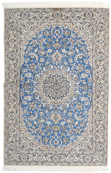 Nain 9La Matta 143X213 Äkta Orientalisk Handknuten Ljusgrå/Beige (Ull/Silke, Persien/Iran)
