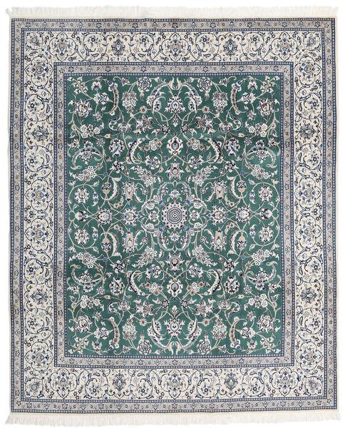 Nain 9La Matta 247X298 Äkta Orientalisk Handknuten Ljusgrå/Blå (Ull/Silke, Persien/Iran)