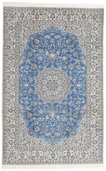 Nain 9La Matta 207X320 Äkta Orientalisk Handknuten Ljusgrå/Beige (Ull/Silke, Persien/Iran)