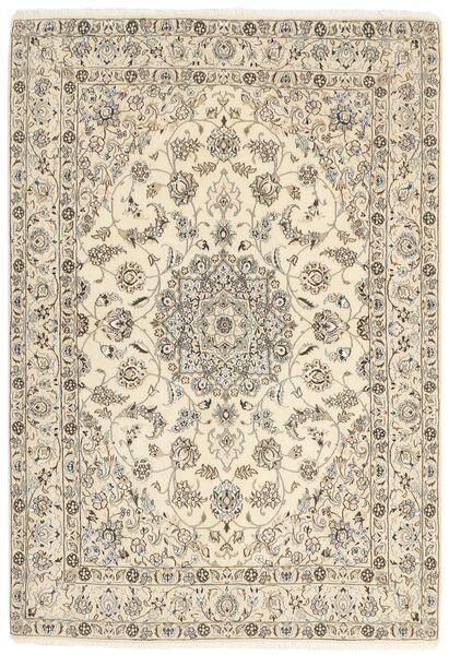 Nain 9La Matta 146X209 Äkta Orientalisk Handknuten Beige/Ljusgrå (Ull/Silke, Persien/Iran)