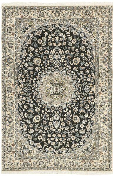 Nain 9La Matta 131X201 Äkta Orientalisk Handknuten Ljusgrå/Beige (Ull/Silke, Persien/Iran)