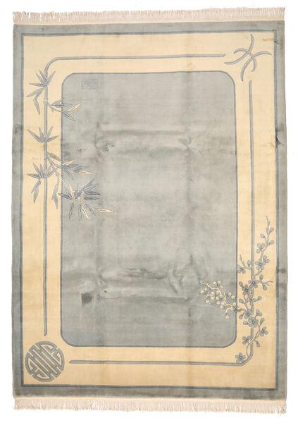Kina 90 Line Matta 244X335 Äkta Orientalisk Handknuten Ljusgrå/Beige (Ull, Kina)