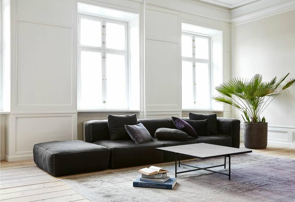 Avlång svart / grå colored vintage - persien / iran - Matta i vardagsrum.