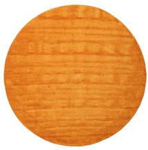 Handloom - Orange Matta Ø 200 Modern Rund Orange/Ljusbrun (Ull, Indien)