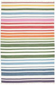 Rainbow Stripe - Vit Matta 200X300 Äkta Modern Handvävd Vit/Cremefärgad (Bomull, Indien)