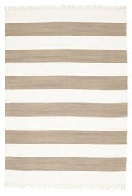 Bomull Stripe - Brun Matta 160X230 Äkta Modern Handvävd Ljusgrå/Vit/Cremefärgad (Bomull, Indien)