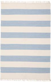 Bomull Stripe - Ljus Blå Matta 140X200 Äkta Modern Handvävd Beige/Ljusblå (Bomull, Indien)