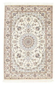 Nain 6La Matta 100X152 Äkta Orientalisk Handknuten Beige/Ljusgrå (Ull/Silke, Persien/Iran)