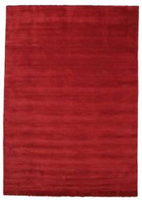 Handloom Fringes - Mörkröd Matta 250X350 Modern Röd Stor (Ull, Indien)